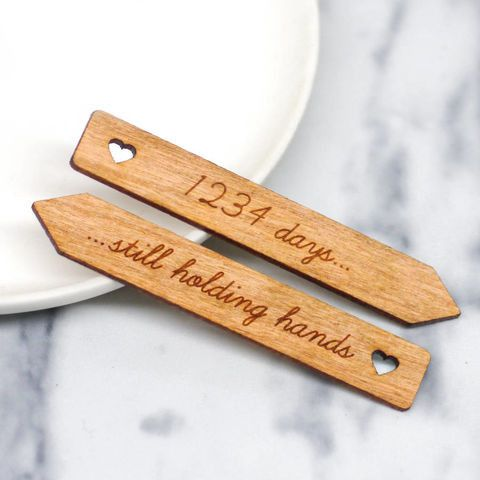 Personalised Wooden Heart Collar Stiffeners