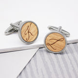Personalised Calligraphy Initial Cufflinks