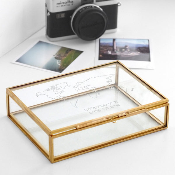 Glass Etched Keepsake box for travels