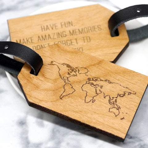 Personalised Map Luggage Tag