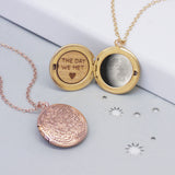 Moon Phase Round Locket Necklace