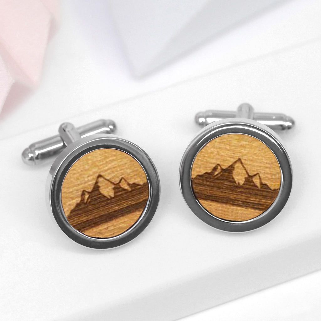 Wooden Mountain Range Cufflinks