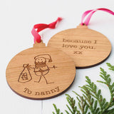 Hand Drawn Wooden Bauble