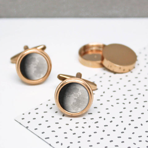 Hidden Moon Phase Twist Cufflinks
