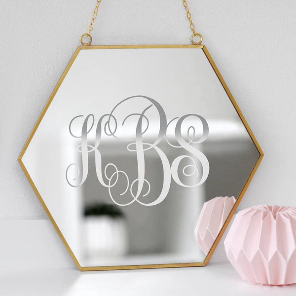 Personalised Couples Monogram Mirror