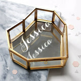 Personalised Glass Heart Jewellery Box With Name