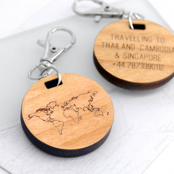Personalised Mini Map Travel Tag