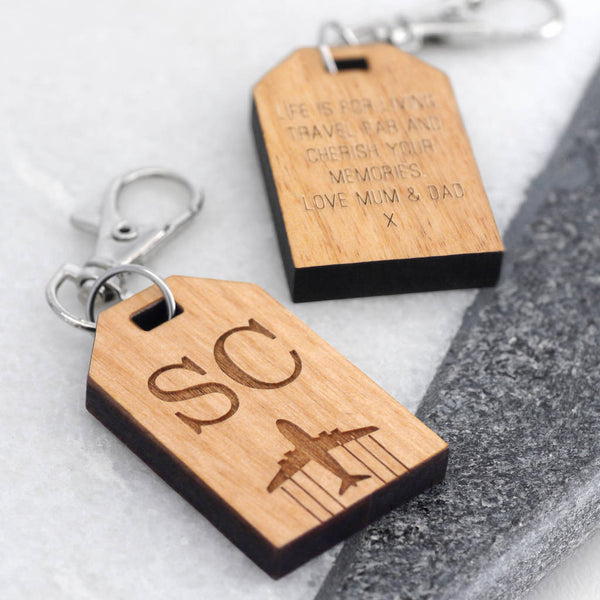 Personalised Mini Travel Tag With Initials