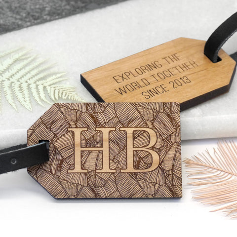 Personalised Palm Leaf Luggage Tag