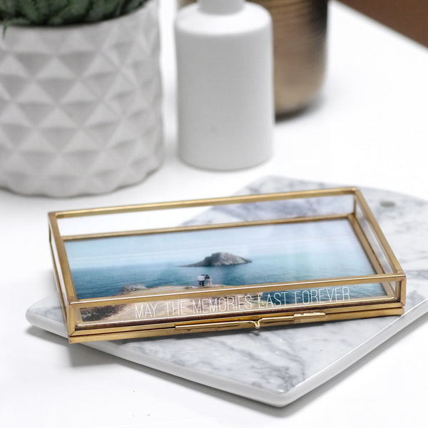 Personalised Glass Rectangular Photo Tray