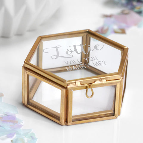 Personalised 'Will You Marry Me?' Jewellery Box