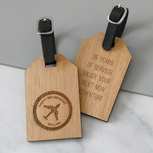 Personalised Retirement Luggage Tag