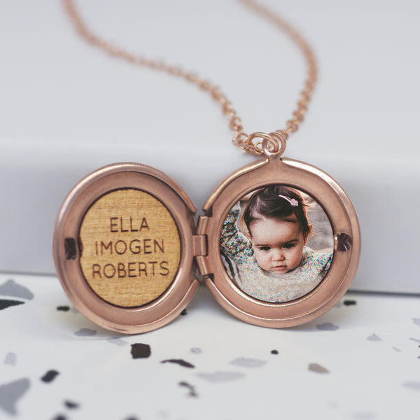 Personalised Photo Round Locket Necklace