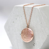 Zodiac Round Locket Necklace