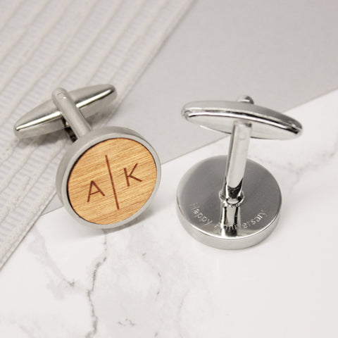 Personalised Split Initials cufflinks