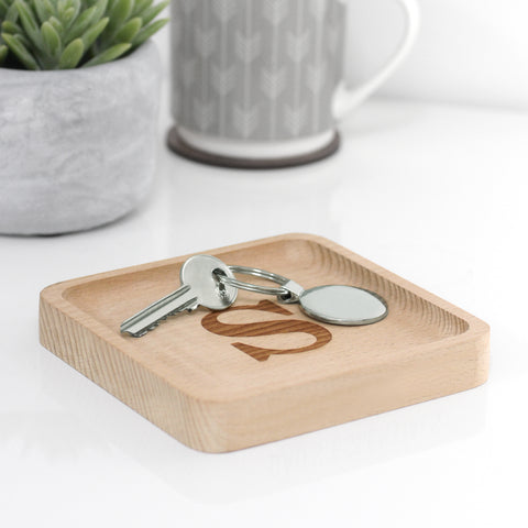 Personalised Wooden Coin Tray