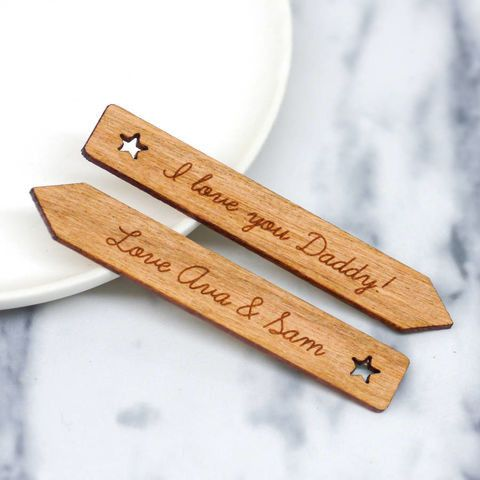 Personalised Wooden Star Collar Stiffeners