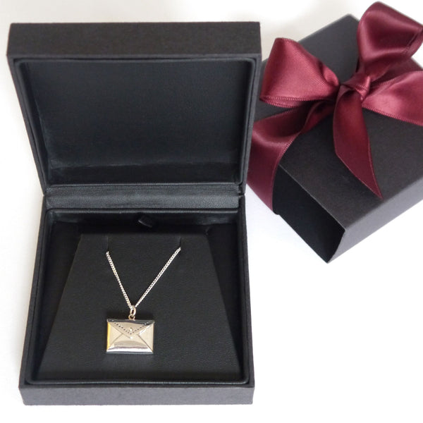Personalised sterling silver fortune cookie necklace for Fortune cookie jewelry box
