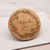 Wooden Thank You Woodland Wreath Coaster