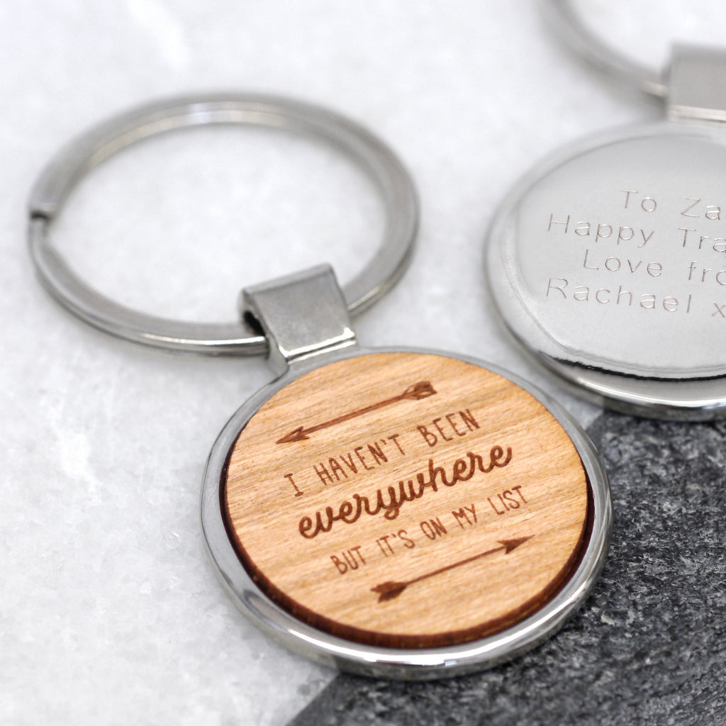 Personalised Travel Quote Keyring
