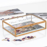 Personalised Glass Wedding Rectangular Keepsake Box