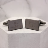 The World Is Your Oyster Rectangle Cufflinks