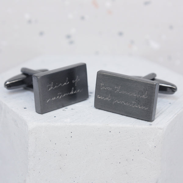 Personalised Written Date Cufflinks
