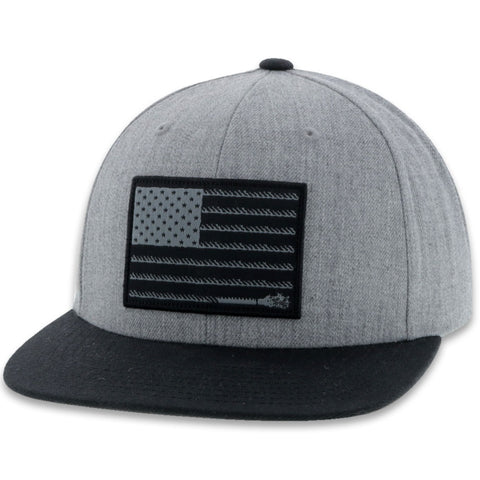 Hooey LIBERTY ROPER GREY AMERICAN FLAG TRUCKER 2010T-GY - Southern Girls Boutique