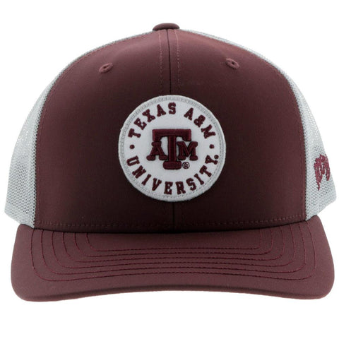 HOOey Maroon & Grey Texas A&M Patch Snapback Cap 7018TMAGY - Southern Girls Boutique