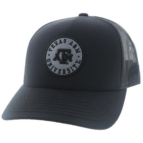 Texas A&M Black Aggies Snapback Hat 7020T-BK - Southern Girls Boutique