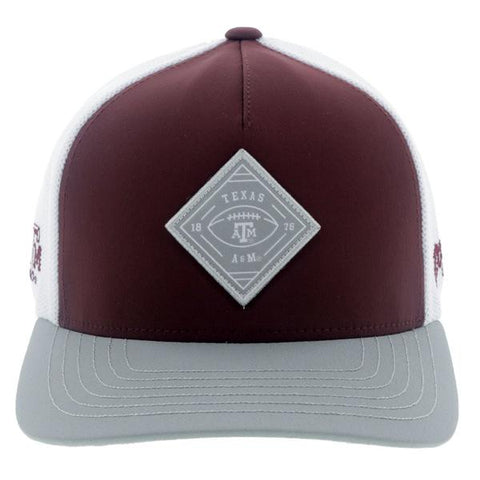HOOey Men's Texas A&M Maroon/White Flex Fit Cap - Southern Girls Boutique