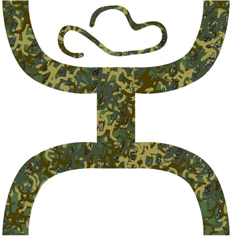 HOOey Camo Large Sticker 6.5 - Southern Girls Boutique