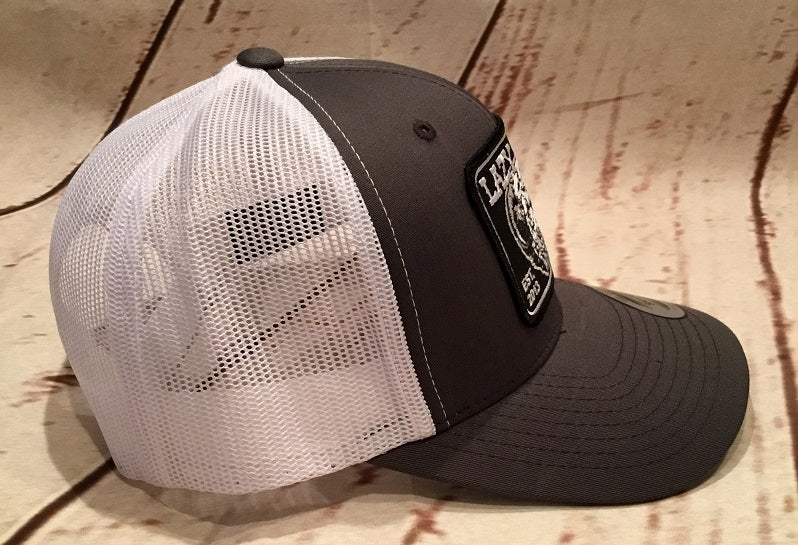3fbd4b30 ... Lazy J Gray and White Elevation Hereford Patch Cap Mesh Trucker - Southern  Girls Boutique