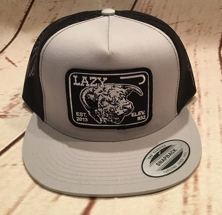 Lazy J Gray and Black Elevation Hereford Patch Cap Mesh Trucker - Southern  Girls Boutique ... f5c395ede24