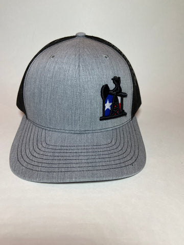 Heather Gray/Black Texas  Oil Field Trucker hat - Southern Girls Boutique
