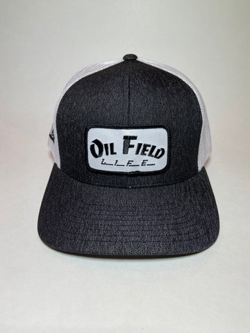 Oil Field Life Heather Black Patch Cap - Southern Girls Boutique