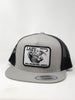 "Lazy J Silver & Black Lazy J Headquarters Patch Cap (4"")   Mesh Trucker"