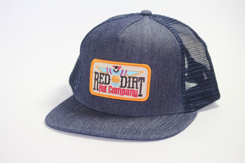 Red Dirt Hat Co T-Bird Blue Denim  Snap Back Trucker Hat - Southern Girls Boutique