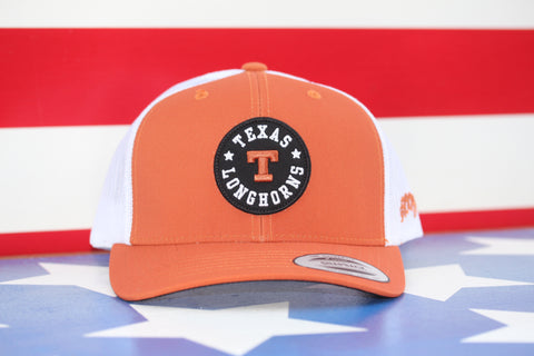 "Hooey ""UNIVERSITY OF TEXAS"" BURNT ORANGE/WHITE 7013T-ORWH - Southern Girls Boutique"