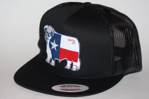 "Lazy J Ranch Wear Black & Black Texas Patch Cap (4"") - Southern Girls Boutique"