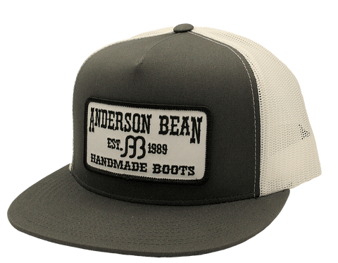 Red Dirt Hat Co  Anderson Bean – Charcoal / White Snap Back Trucker Hat