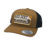 "Red Dirt Hat Co ""Arrows"" – Caramel / Black Snap Back Trucker Hat"