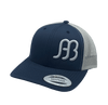 "Red Dirt Hat Co """"Anderson Bean"" – Navy / Silver Snap Back Trucker Hat - Southern Girls Boutique"