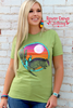 Rowdy Crowd Amarillo Armadillo  Cactus Tee - Southern Girls Boutique