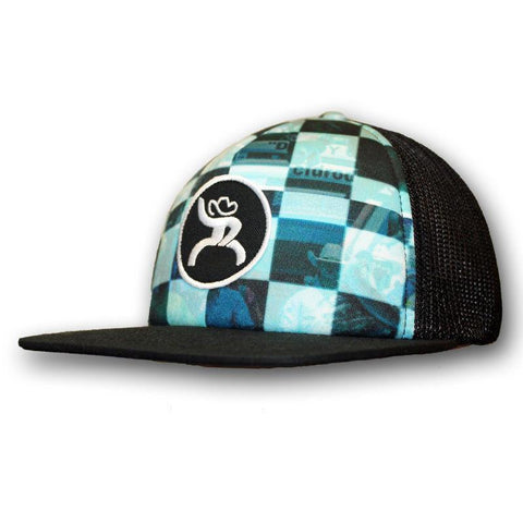 "Hooey Roughy ""Buckle"", black and blue trucker with a circle Roughy patch - Southern Girls Boutique"