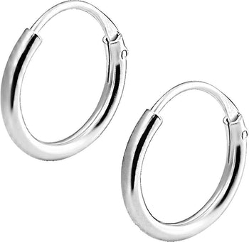 .925 Sterling Silver 3/8 Hoop Earrings for Kids