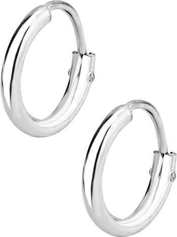 .925 Sterling Silver 1/4 Hoop Earrings for Kids