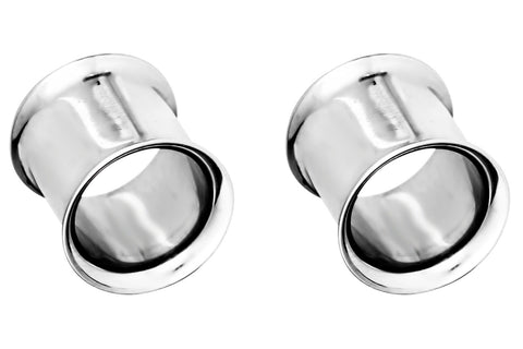 These tunnel plugs are made with implant grade 316L Surgical Steel. This hypoallergenic body jewelry is lead & nickel free.