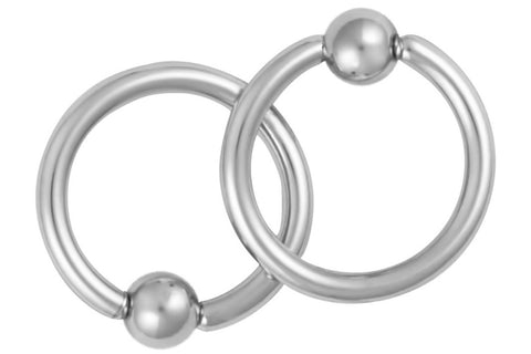 Pair of Captive Bead Nipple Rings