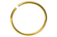 Titanium Anodized Gold Nose Hoop